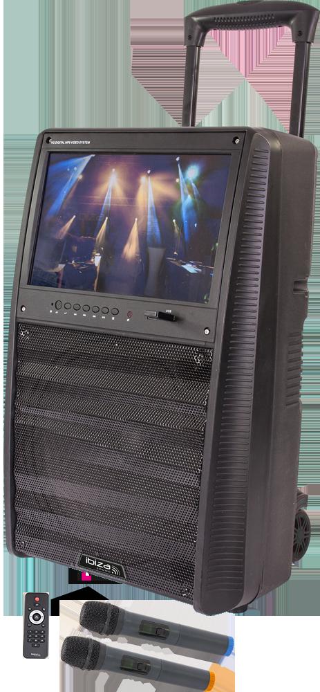 Karaoke anlæg med TFT skærm og mikrofoner