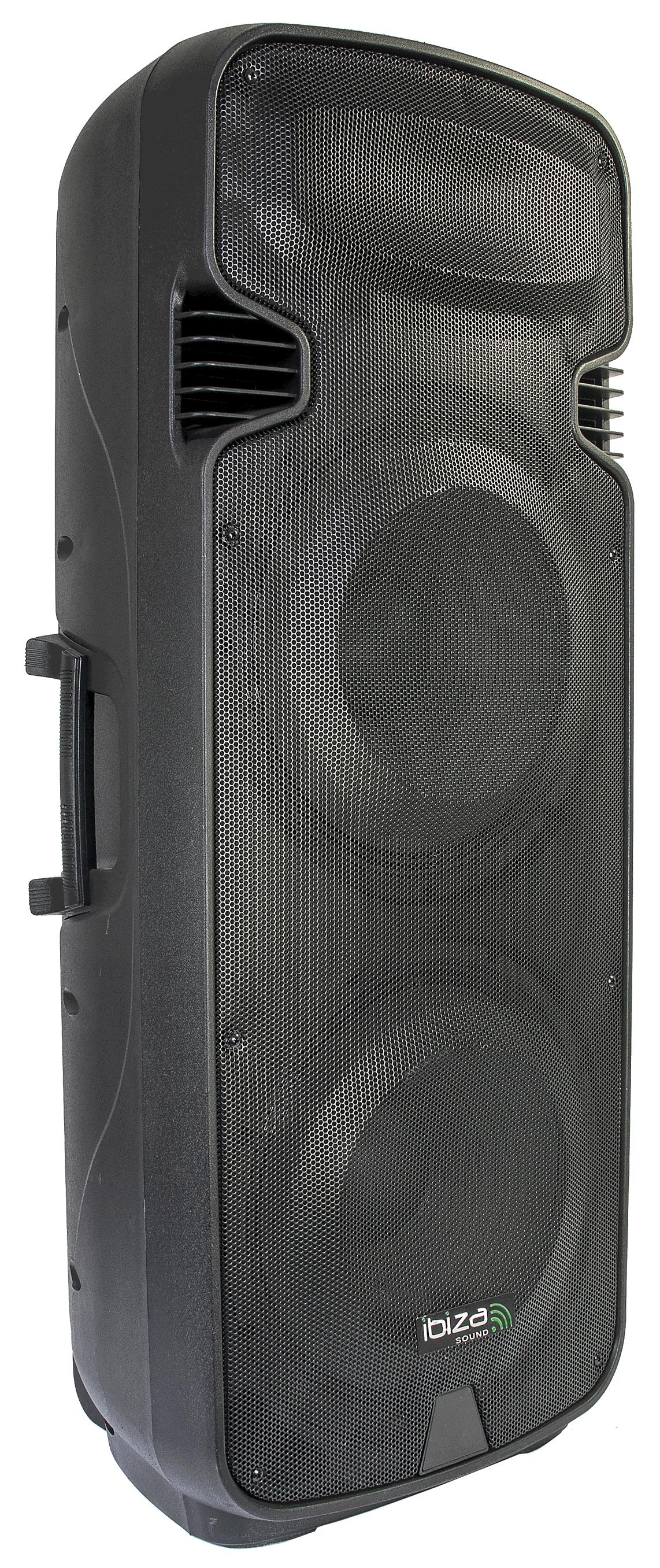 Ibiza Transportabel Stand Alone PA højttaler med USB/SD, Bluetooth og 2 mikrofoner