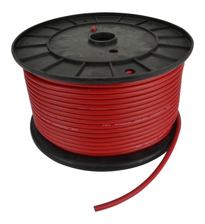 Image of   Cobra mikrofonkabel på rulle (50 Meter). Rød