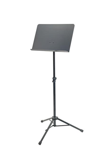 K&M Orkester nodestativ, sort,  490x340mm, 74-127 cm