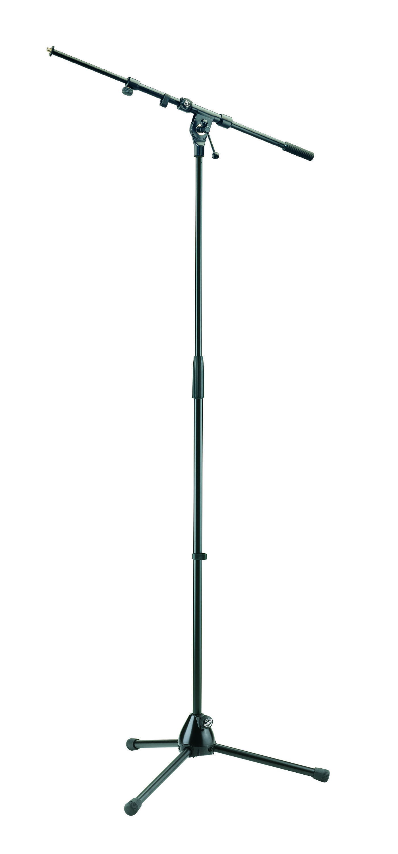 Image of   K&M mikrofonstativ & galge, 29cm ben, sort