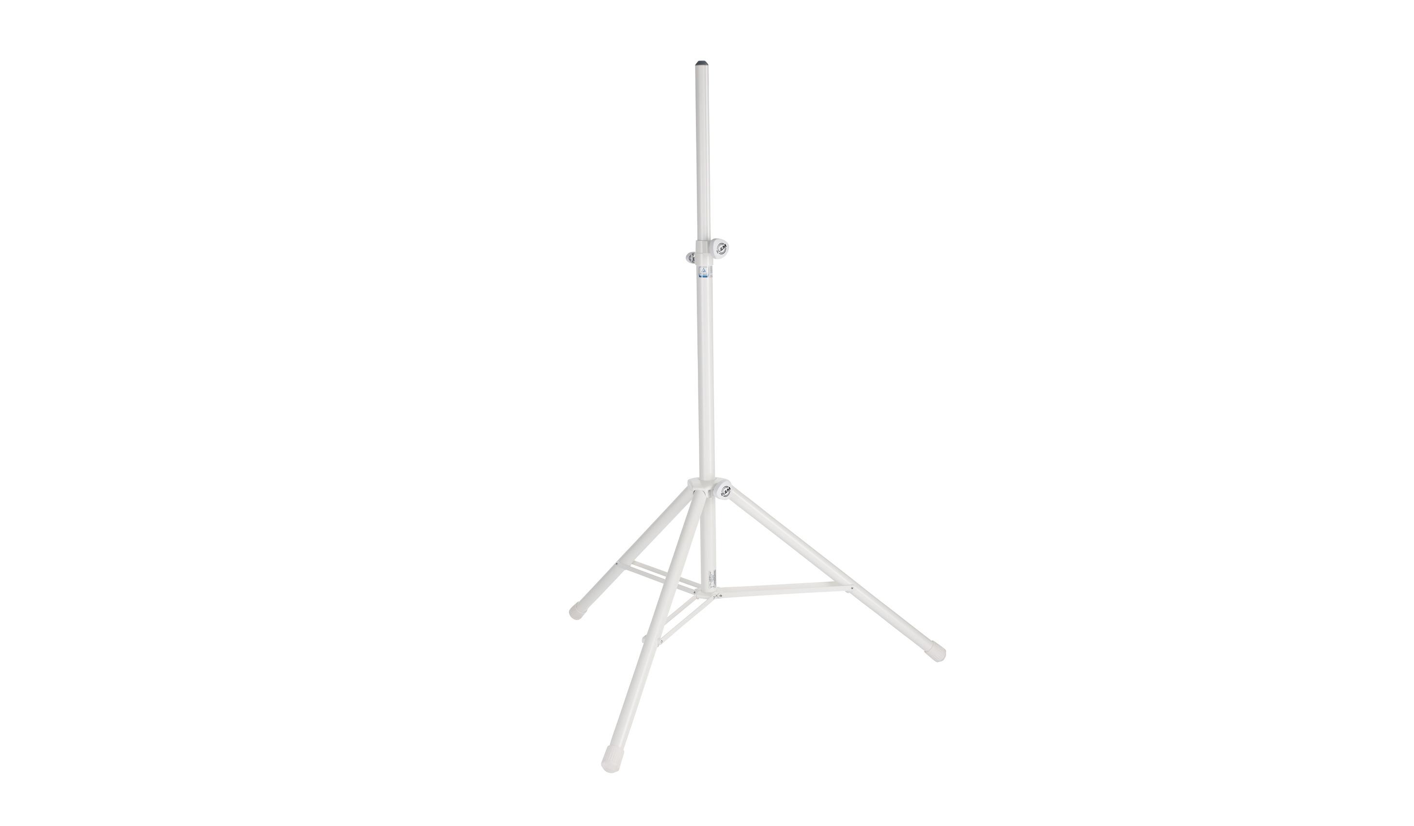 K&M højttalerstativ alu, hvid